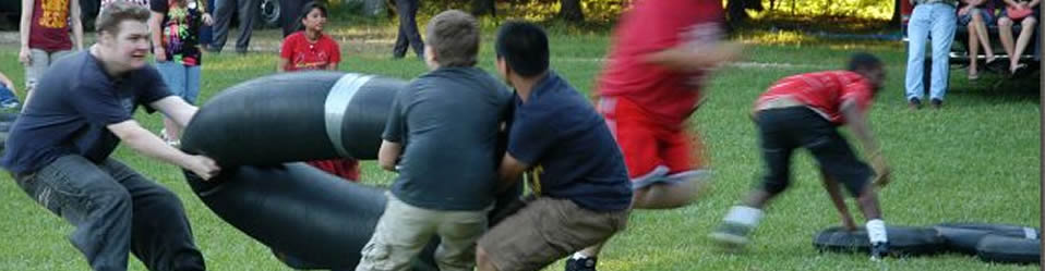 Teen Boys Games During Bible Time